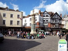 Canterbury,The Butter Market square, Kent © Len Williams